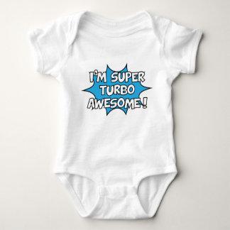 I'm super turbo awesome! baby bodysuit
