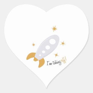Im Taking Off Heart Sticker