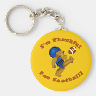 I'm Thankful for Football Thanksgiving Design Keychains