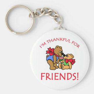 I'm Thankful for Friends Thanksgiving Apparel Key Chain