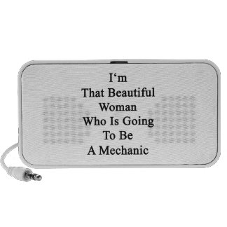 I'm That Beautiful Woman Who Is Going To Be A Mech iPhone Speaker