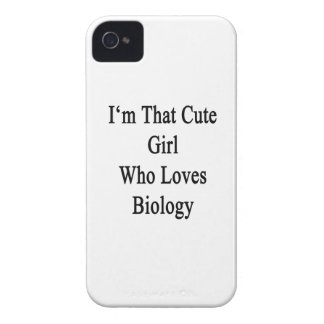 I'm That Cute Girl Who Loves Biology iPhone 4 Case-Mate Cases