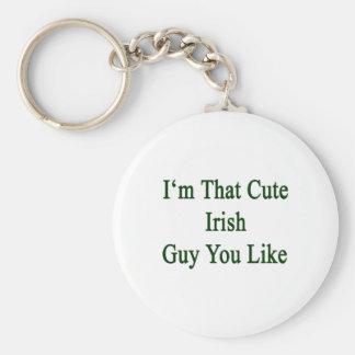 I'm That Cute Irish Guy You Like Basic Round Button Key Ring