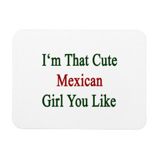 I'm That Cute Mexican Girl You Like Rectangular Photo Magnet