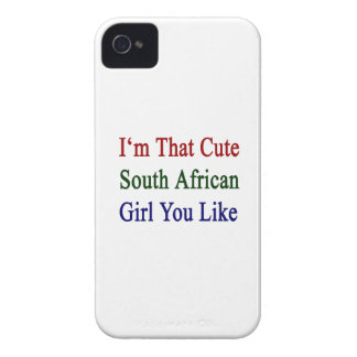 I'm That Cute South African Girl You Like Case-Mate iPhone 4 Case