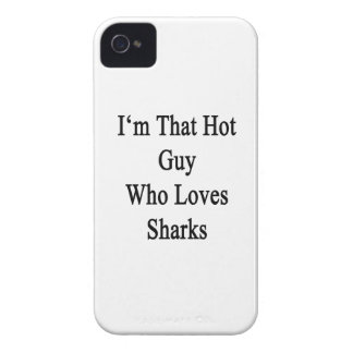 I'm That Hot Guy Who Loves Sharks Case-Mate iPhone 4 Cases