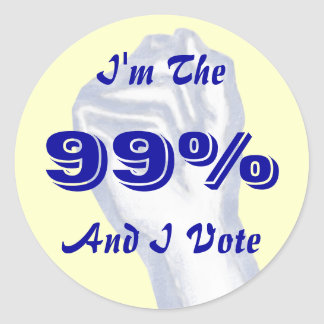 I'm The 99% (and I vote) sticker