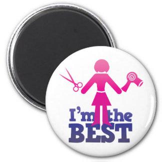 I'm the best ! 6 cm round magnet