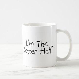 I'm the Better Half Basic White Mug
