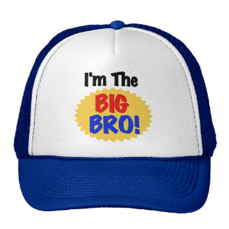 I'm the Big Bro Text Tshirts and Gifts Hats