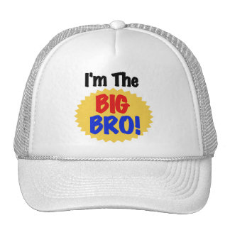 I'm the Big Bro Text Tshirts and Gifts Mesh Hat