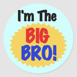 I'm the Big Bro Text Tshirts and Gifts Round Sticker
