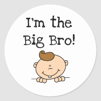 I'm the Big Bro Tshirts and Gifts Classic Round Sticker