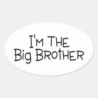 Im The Big Brother 2 Oval Sticker