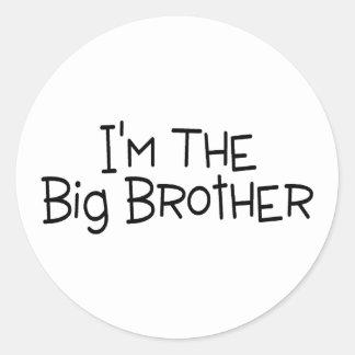 Im The Big Brother 2 Round Sticker