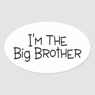 Im The Big Brother 2 Oval Sticker