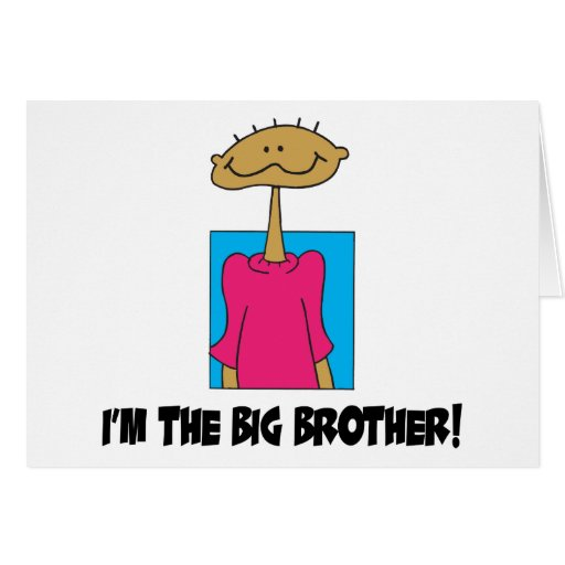 I'm The Big Brother Cards