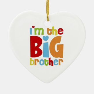 IM THE BIG BROTHER CERAMIC HEART DECORATION