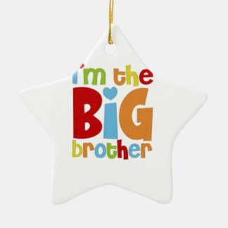 IM THE BIG BROTHER CERAMIC STAR DECORATION