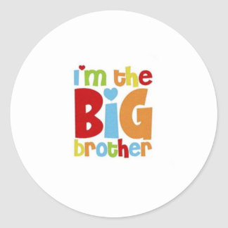 IM THE BIG BROTHER CLASSIC ROUND STICKER
