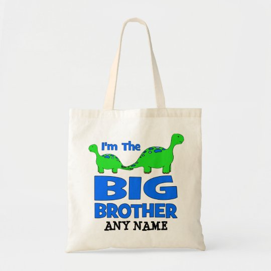 I'm the BIG Brother! Custom Dinosaur Design Tote