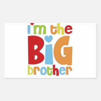 IM THE BIG BROTHER RECTANGULAR STICKER