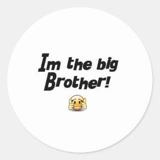 Im the big brother round sticker