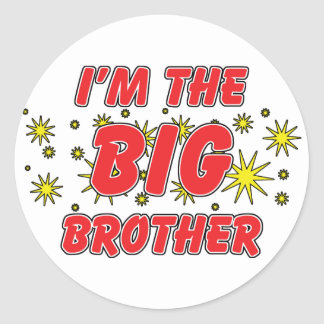 I'm The Big Brother Round Sticker