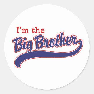 I'm the big brother round sticker