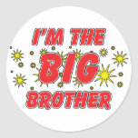 I'm The Big Brother Round Stickers