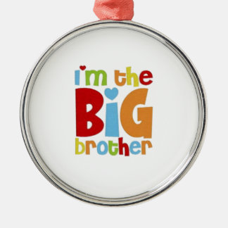 IM THE BIG BROTHER Silver-Colored ROUND DECORATION