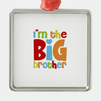 IM THE BIG BROTHER Silver-Colored SQUARE DECORATION
