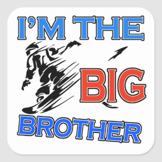 I'm The Big Brother Soccer Square Stickers