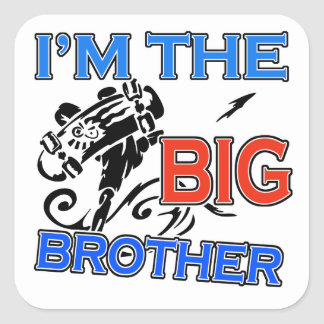 I'm The Big Brother Soccer Square Sticker