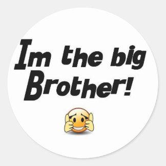 Im the big brother classic round sticker