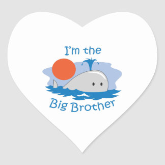 IM THE BIG BROTHER HEART STICKER