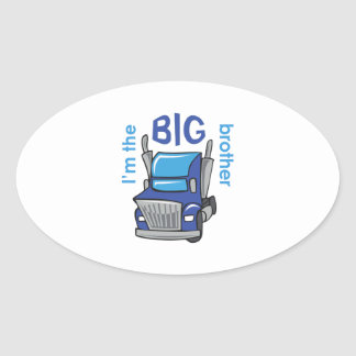 IM THE BIG BROTHER OVAL STICKER