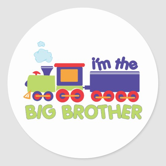 I'm the Big Brother Train T-shirt Classic Round