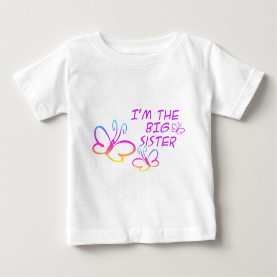 I'm The Big Sister- Butterflies Baby T-Shirt
