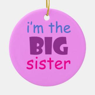 I'm the big sister christmas ornament