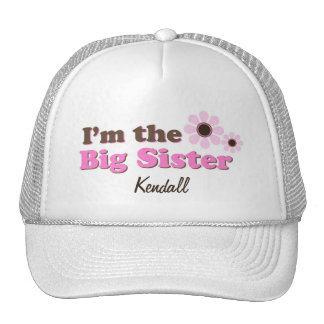 I'm The Big Sister Mod Flowers Personalized Cap