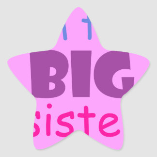 I'm the big sister star sticker