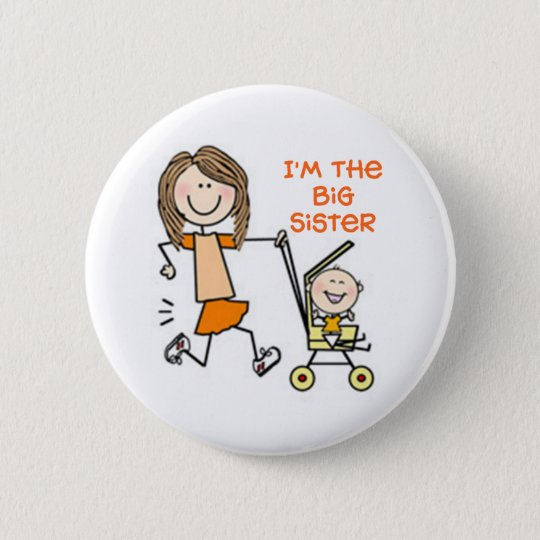 I'm the Big Sister Stick Figure 6 Cm