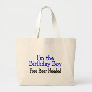 Im The Birthday Boy Free Beer Needed Jumbo Tote Bag