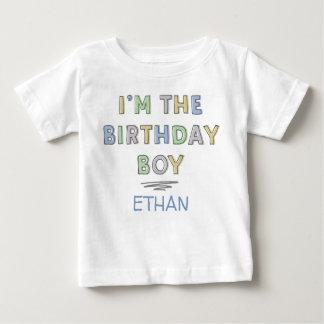 I'm the Birthday Boy - Personalised Baby T-Shirt