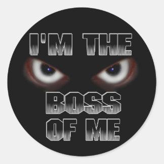 I'M THE BOSS OF ME! ROUND STICKER