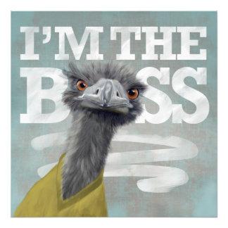 I'm the Boss. Ostrich Art Photo