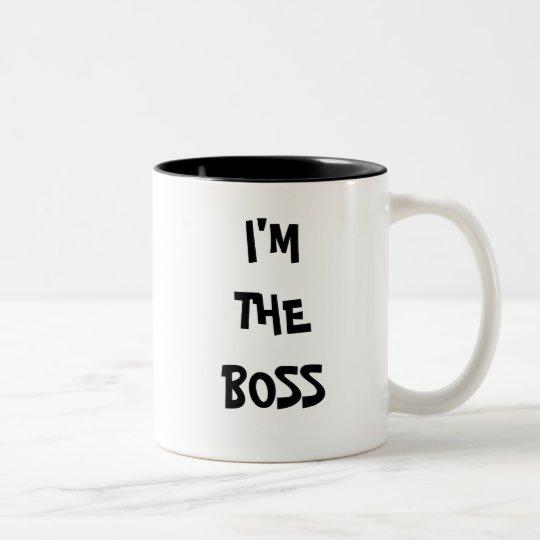 I'M THE BOSS Two-Tone COFFEE MUG