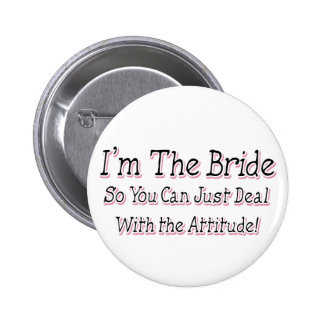 I'm The Bride 6 Cm Round Badge