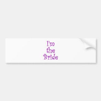 Im the Bride Car Bumper Sticker